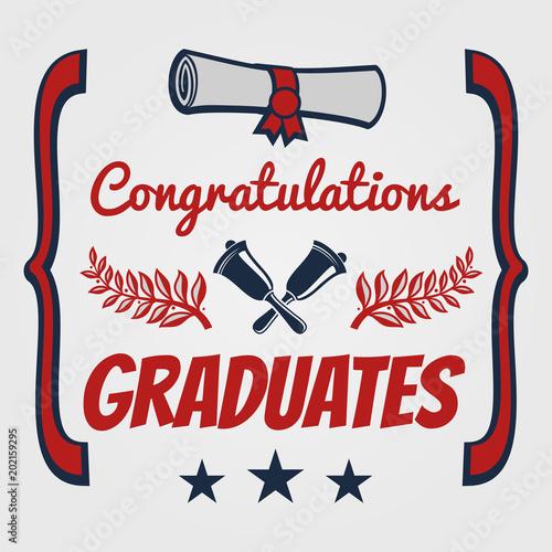 graduate banner design congratulation card for graduates fotolia
