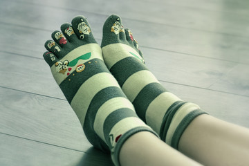 Funny japanese socks.