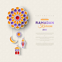 Islamic lanterns, star and moon