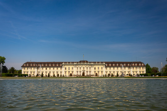 The Palace of Ludwigsburg, near Stuttgart, one of Germany's largest Baroque palaces