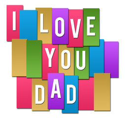 I Love You Dad Colorful Stripes Group