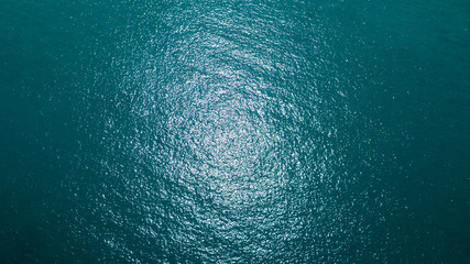 Sea surface aerial view Wall mural