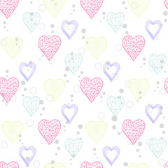 Heart abstract pattern