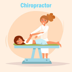 Chiropractor Massage Vector.