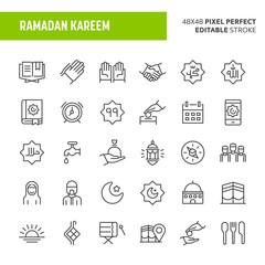 Ramadan Kareem Vector Icon Set