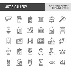 Art & Gallery Vector Icon Set