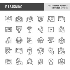 E-learning Vector Icon Set