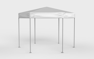 Promotional Advertising Outdoor Event Trade Show Blank Six sided canopy tent for design presentation. 3d render illustration.