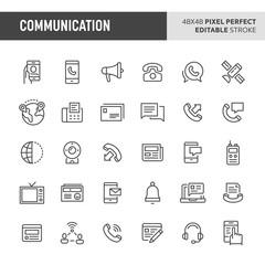 Communication Vector Icon Set