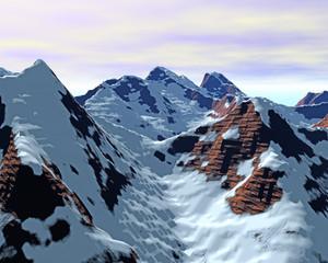 virtuelle Winter Landschaften aus dem Coputer