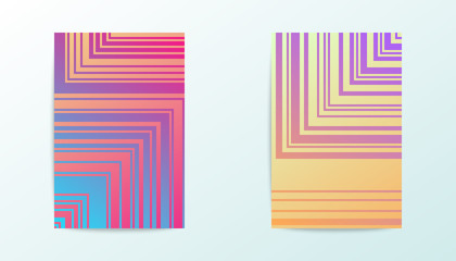Covers vector design. Gradient pattern with outline geometric shapes. Flyers or posters concept.