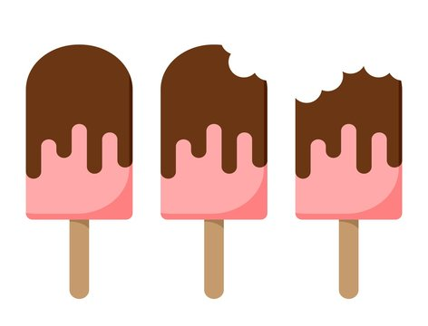 Ice creams cartoon set. Isolated