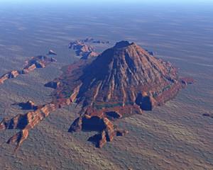 Mt. Sankt Helens virtuelle Landschaften aus dem Coputer