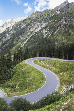 Austria, Vorarlberg, Alps, Silvretta High Alpine Road, Montafon Valley