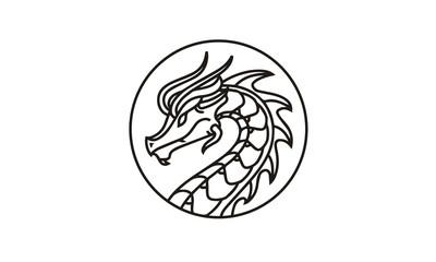 Dragon Badge Medallion Logo design inspiration