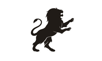 Silhouette Lion King Heraldry logo design inspiration