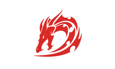 Dragon Tribal with initial D logo design inspiration