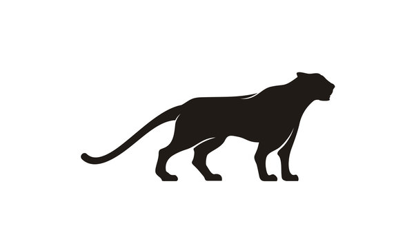 Jaguar Puma Lion Panther silhouette logo design inspiration