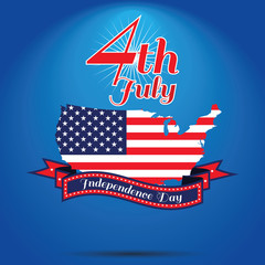 4th of July, American independence day . Happy independence day