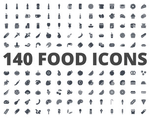 Food silhouette icon vector pack