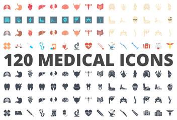 Medicine flat silhouette icon vector