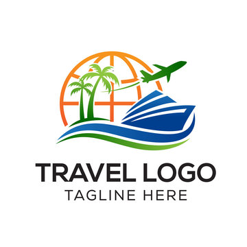 Travel Logo Template, Holiday Logo Template