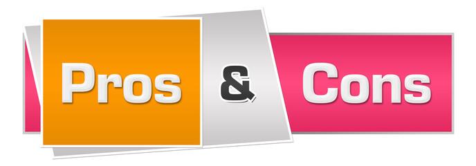 Pros And Cons Pink Orange Horizontal