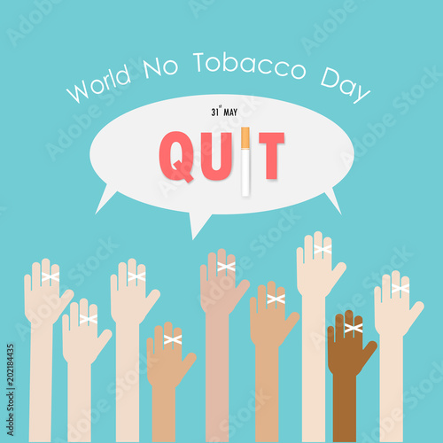 Human hands and quit tobacco vector logo design templatey 31st human hands and quit tobacco vector logo design templatey 31st world no tobacco day m4hsunfo