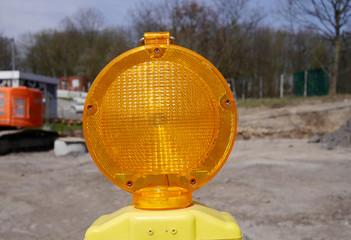 Baustellenleuchte gelb