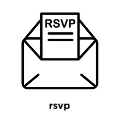 rsvp icon isolated on white background