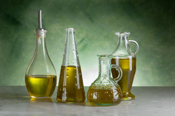variety of olive oil bottle