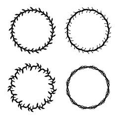 Circle frame flourish