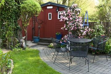Garten, Gartenlaube, Schrebergarten