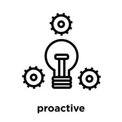 proactive icon isolated on white background