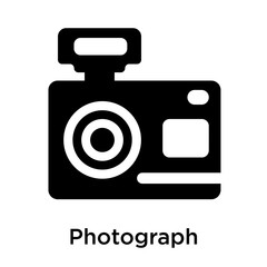Photograph icon isolated on white background