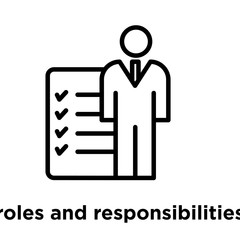 roles and responsibilities icon isolated on white background