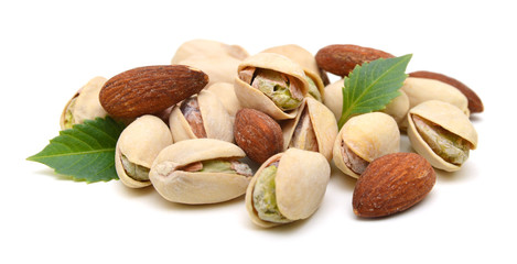 Almonds with pistachio