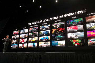 Nvidia CEO Huang, speaks at the 2018 Nvidia GPU conference in San Jose