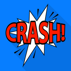 Crash icon. Pop art illustration of crash vector icon for web