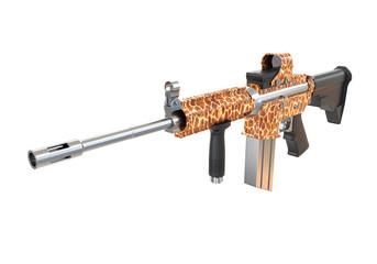 machine gun with fur texture