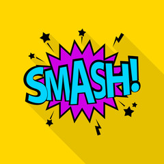Smash icon. Pop art illustration of smash vector icon for web