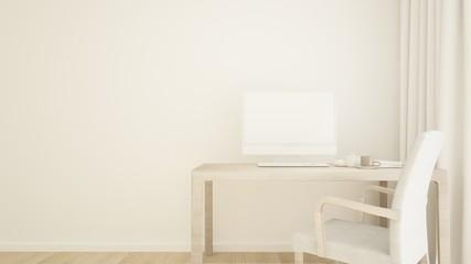 Work space interior background - 3d rendering minimal japanese