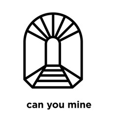 can you mine icon isolated on white background