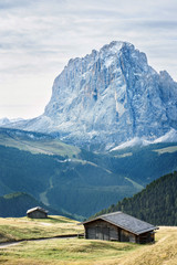 Wall Murals Europa landscape of valley in the dolomites alps