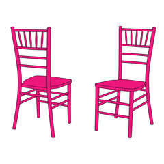 Classic wooden chair set, Chiavari or Tiffany design