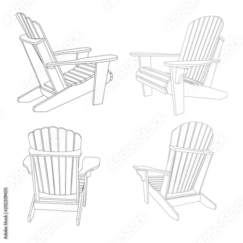 Traditional Garden Furniture Garden outdoor wooden chair in several positions traditional garden garden outdoor wooden chair in several positions traditional garden furniture vecror illustration isolated on workwithnaturefo