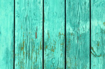 Green color wooden fence pattern.