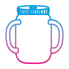 degraded line preserve bottle glass object design