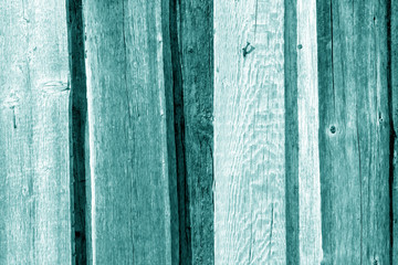 Old wooden fence pattern in cyan color.