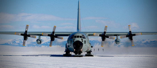 Poster Antarctica Antarctica Skiway, LC-130